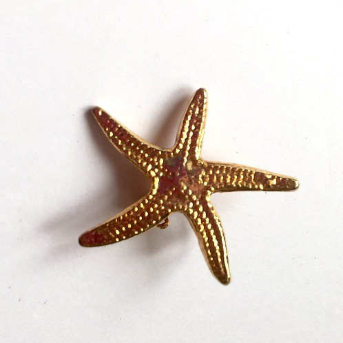 Винтажная мини-брошь Морская звезда (Европа) 1970е