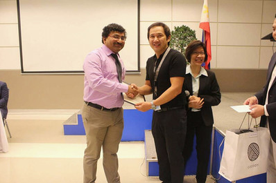 Dr Debjyoti Dutta Felicitated at Manila Philippines
