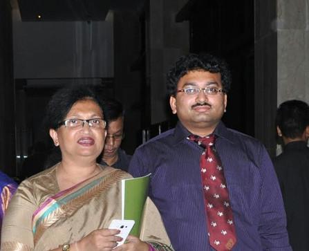 Dr Dutta with Ms. Chandrima Bhattacharyya during Pain Conference at Novotel Kolkata