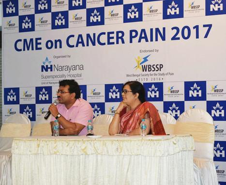 Dr Debjyoti Dutta talking on Cancer Pain Management at Hotel Stadel Kolkata