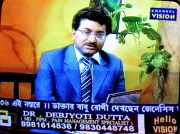 Dr Debjyoti Dutta in a live talk show on Pain Management