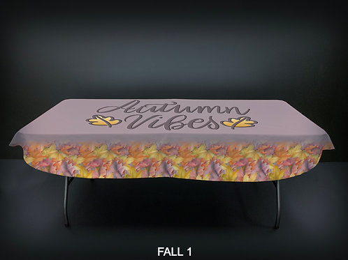 """72"""" STANDARD FABRIC TABLE COVERS - FALL"""