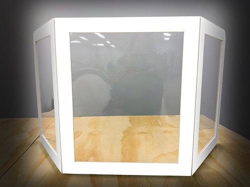 FOAM DESKTOP BARRIER - TRIPLE WINDOW - WHITE