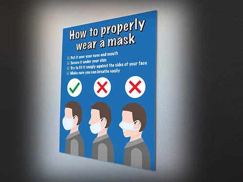 HOW TO WEAR A MASK POSTER