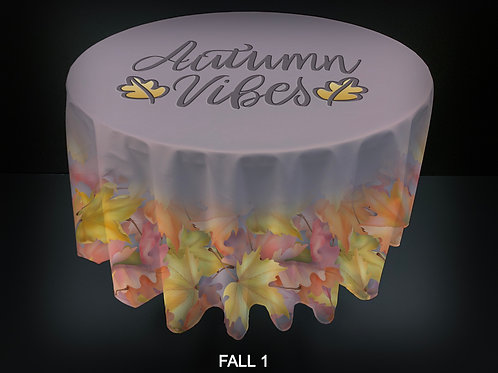 "36"" ROUND FABRIC TABLE COVERS - FALL"