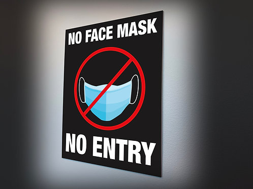 NO MASK NO ENTRY POSTER