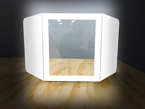 FOAM DESKTOP BARRIER - SINGLE WINDOW - WHITE