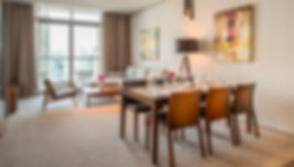 2BR Residence Living Room Marina View (R