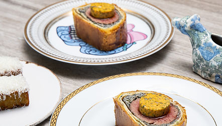 Beef Wellington, 'cheesy chips' Cafe de