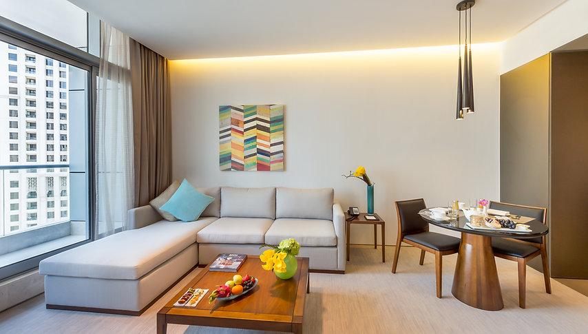 1BR Residence Living Room ( (Room 1710).