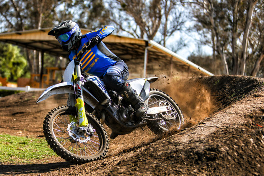 Jeff Blackmore on the Moto Track