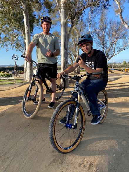 Mountain Bike Pros Evander Hughes & Aaron Gwinn