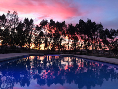 Sunday Evening Sunset at the Ranch Pool