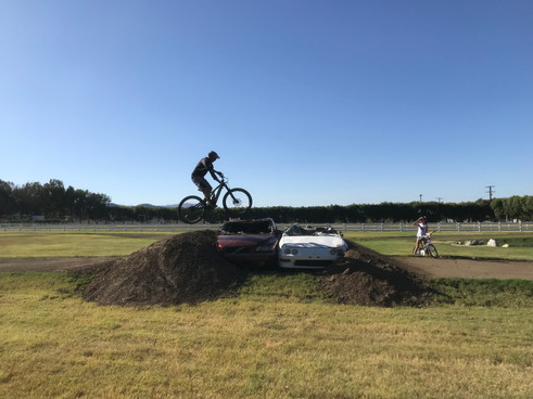 Car Jump on the Moto Track