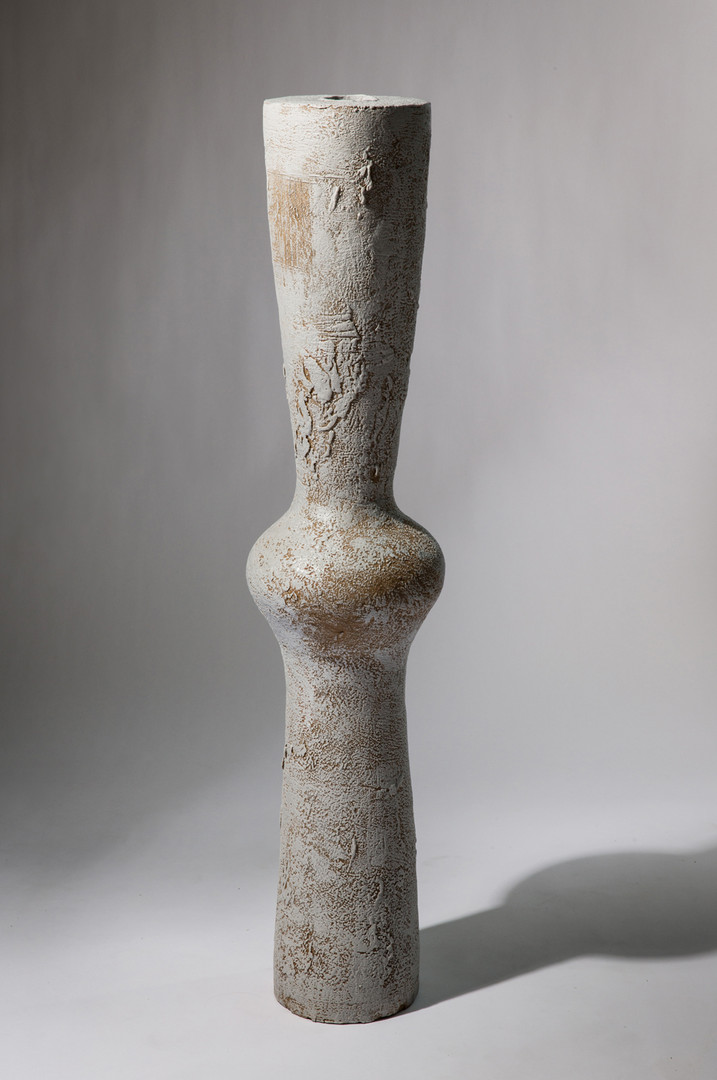 UNTITLED (TR439), 2013,  stoneware and slip, 44 3/4 in H; private collection
