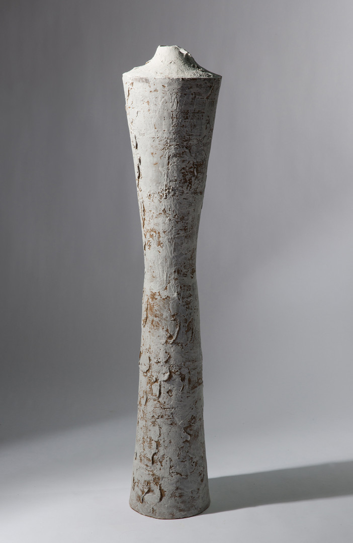 UNTITLED (TR440), 2013, stoneware and slip, 44 1/2 in H; private collection