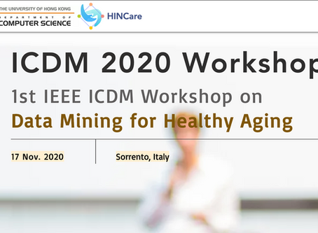 1st IEEE ICDM Workshop on Data Mining for Healthy Aging   第一屆IEEE ICDM 關於健康老年化的數據挖掘工作坊