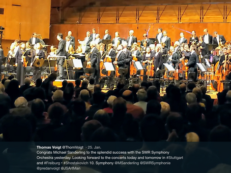 Splendid success with the SWR Symphony Orchestra
