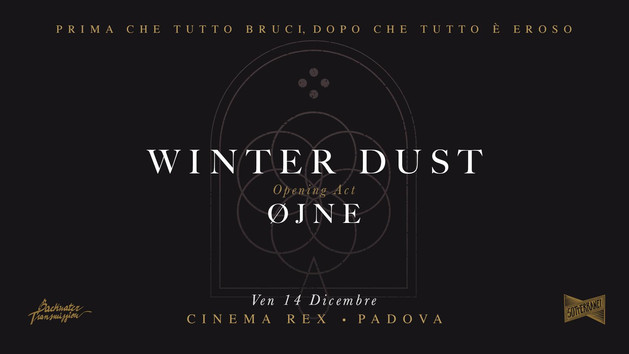 Release Show Winter Dust - Sense By Erosion / ØJNE | le ultime parole.