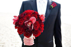 Groom and Bouquet