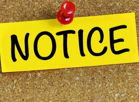 March 17 - Public Notice Update