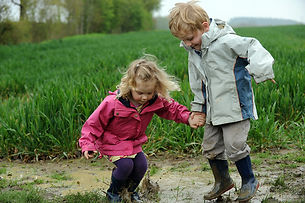 outdoor messy play
