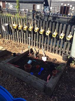 Yorley Barn Nursery Gardening Area