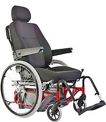 flexible Sitzeinheit mit Rollstuhl Untergestell für Selbstfahrer