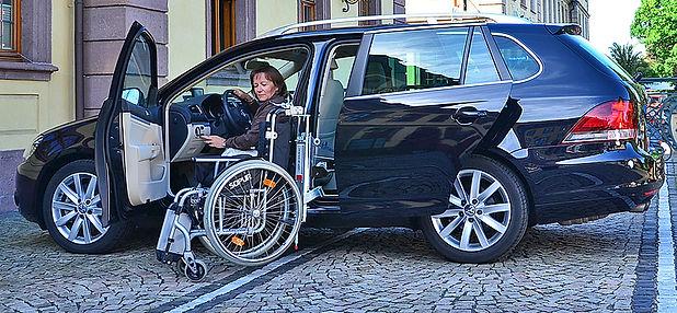 Einzuggerät für Rollstühle EDAG