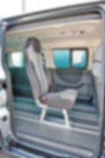 SICOM 2 Fahrzeugsitz integrierter 3-Punkt-Gurt integrierte Kopfstütze für alle gängigen Transporter  Anwendungsbereich Fahrgastraum in Kleinbussen und Transportern  Einzelsitz, Doppelsitz, 3er Sitz