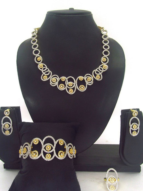 CZ Necklace Set 128