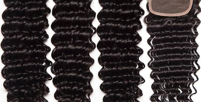Deep Wave Brazilian Remy Hair + Closure
