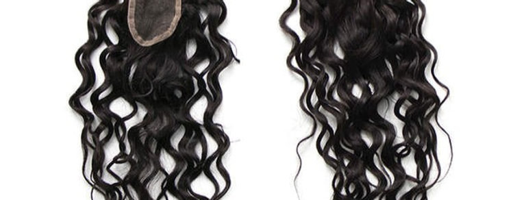 Pre-Plucked 2x6 Water Wave Curl Lace Closure
