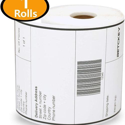 single Large/ Wide sticky label paper