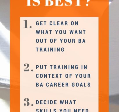 I Want to Become a Business Analyst, What Training Do I Need?