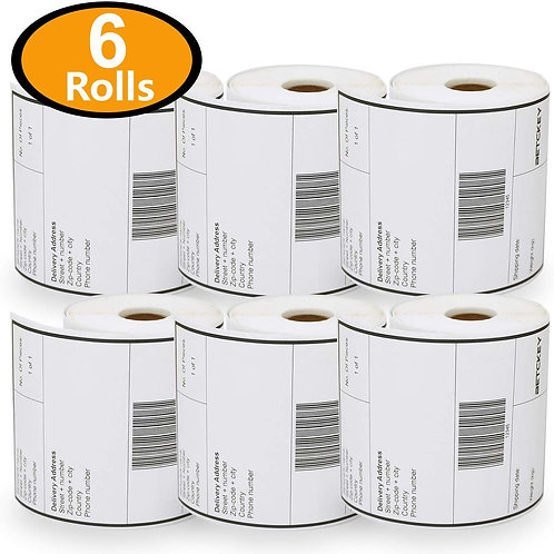 Pack of 6 Large/ Wide sticky label paper