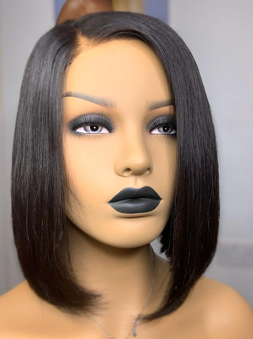 Chioma 12 Inces Lace Closure Raw Hair Wig
