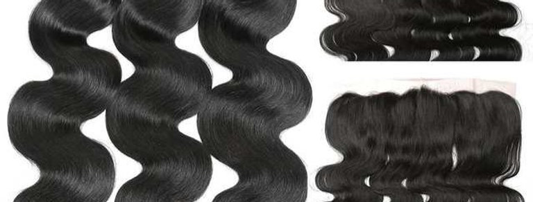 Brazilian Remy Hair Body Wave Bundles with 13x4 Lace Frontal