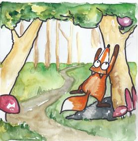räven trix hittar ballong