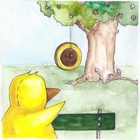 Ankan vid trädet