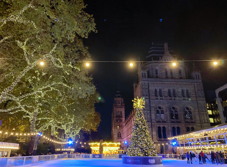 The Natural History Museum is ready for the Christmas season.