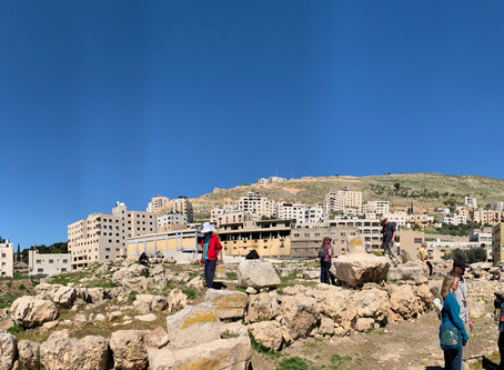 Ancient Shechem and Joshua's Standing Stone.