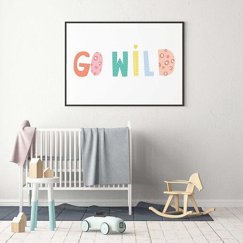 Go Wild Kids Wall Art Print