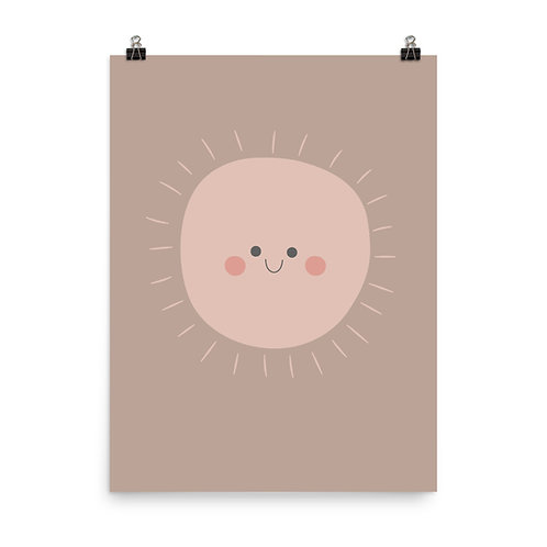 Happy Sun Children's Nursery Print