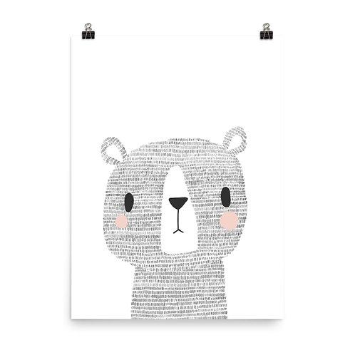 Woodland Bear Children's Nursery Print