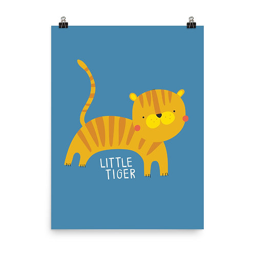Little Tiger Children's Nursery Print