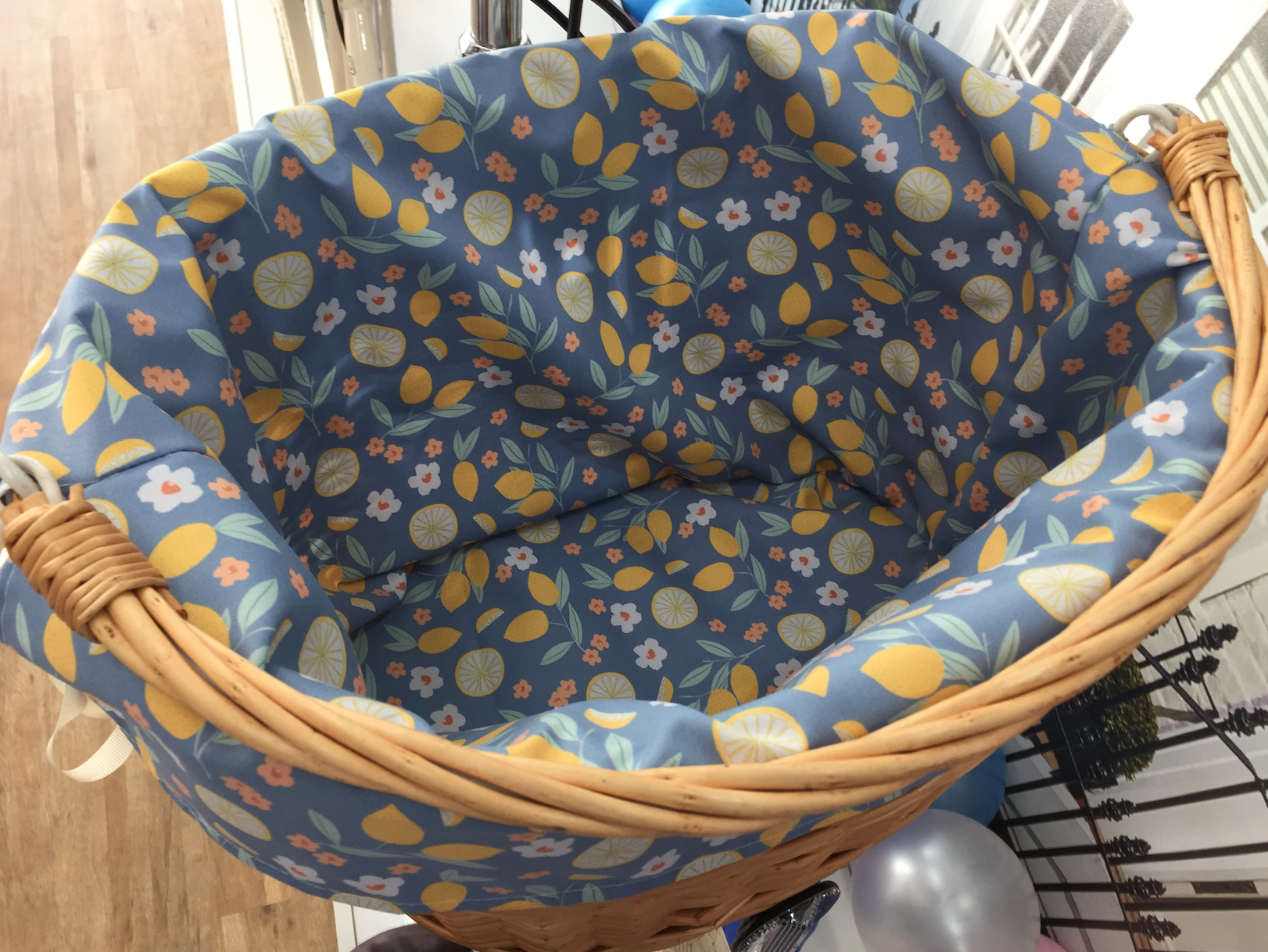 Raleigh Bikes Basket Liner Pattern