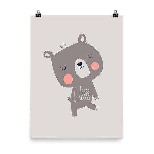 Dancing Bear Nursery Art Print