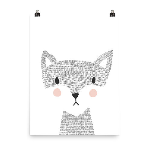 Woodland Fox Children's Nursery Print