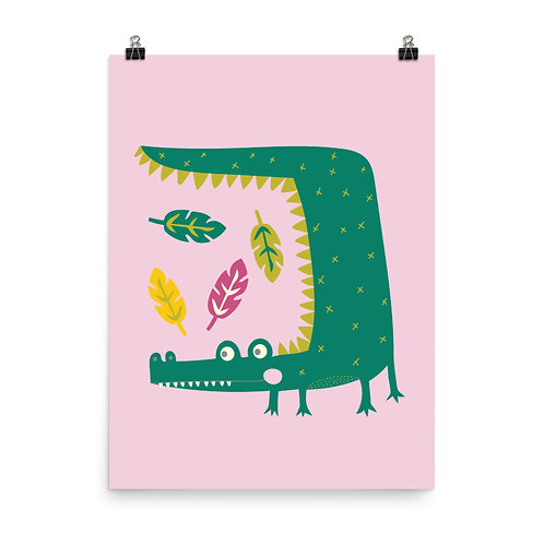 Crocodile Nursery Art Print